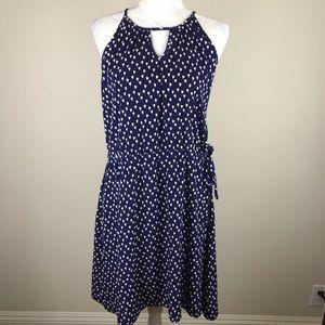 Pixley Stitch Fix Tulip Print Waist Tie Dress Larg